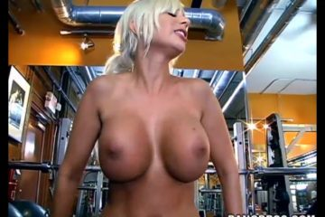 Busty blonde Puma Swede fucking in the gym