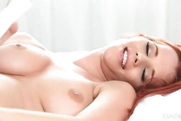 Stunning model masturbates and reaches orgasm