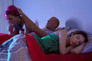 Anna Bell Peaks satisfies her lover when her wife sleeps