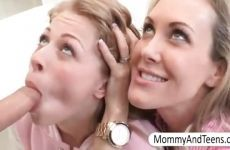 Mother ensures that her daughter gives pleasure good