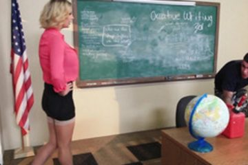 Sex teacher Leigh Darby does sex practice with a student