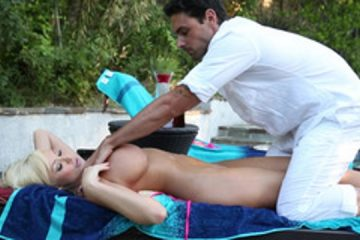 Massage and sex by the poolside with Summer Brielle