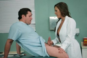 Abigail Mac loves cock is examining her patient in the hospital