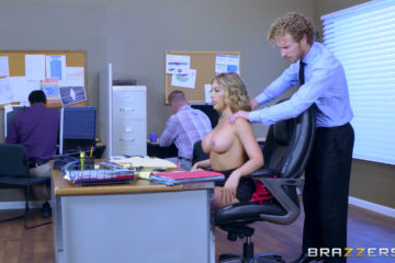 Kagney Linn Karter takes big dick at work