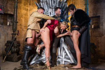 Queen Of Thrones Part 4 Ella Hughes and Rebecca Moore and Dorian Del Isla and Pascal White and Xander Corvus