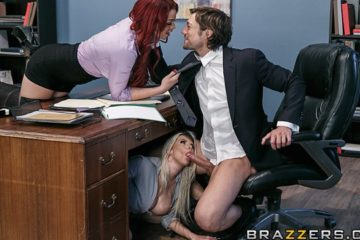 Hungry For A Job with Rachel RoXXX and Skyla Novea and Jean Val Jean