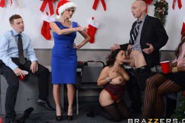 Office Christmas Party with Jessica Bangkok and Johnny Sins