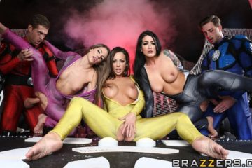 Power Bangers A XXX Parody Part 5 with Abigail Mac and Katrina Jade and Kimmy Granger and Lucas Frost and Xander Corvus