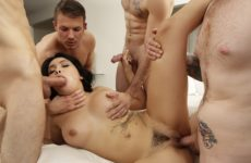Aaliyah Gets Her Gangbang with Aaliyah Hadid and Codey Steele and Jake Adams