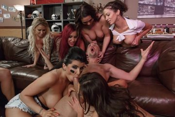 Halftime Show with Eva Notty and Jada Stevens and Nikki Benz and Romi Rain and Charles Dera and Keiran Lee