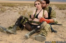 Metal Rear Solid The Phantom Peen (A XXX Parody) with Casey Calvert and Charles Dera