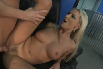 Hot blonde moans with ecstasy while hunk penetrates her wet cunt