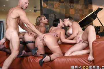 Dinner For Cheats with Angela White and Kagney Linn Karter and Phoenix Marie and Johnny Sins