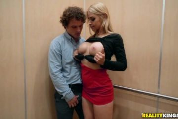 Elevator Creeping with Sarah Vandella and Robby Echo