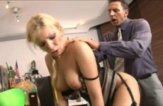 Perfect tight little asshole on this stunning white secretary gets drilled hard