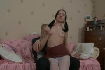 Young babe loves to ride a huge cock in bed