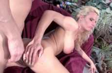 Dirty brunette masturbates while her blonde friend gets pounded by stud