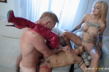 He Came At Night Part 2 with Bonnie Rotten and Kira Noir and Bill Bailey