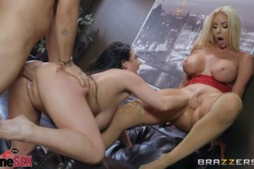 Nicolette Shea and Angela White fucking in threesome