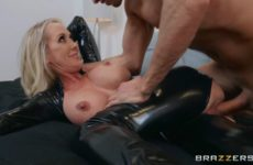 Brandi Love fucking dressed in latex