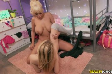 Bridgette B teaching Anastasia Knight about sex