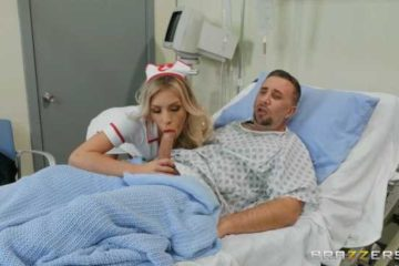 Pornographic movie with horny nurse