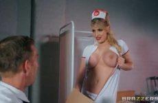 Sexy nurse has sex in the consultation