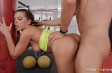spicy woman fucked in the gym