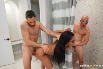 woman fucking with two men with open vagina