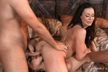 a threesome with two women and vicious girls