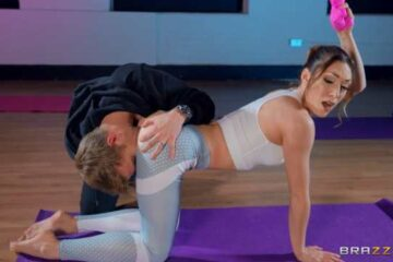 Sensual yoga and pants sex