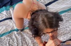 schoolgirl with glasses does young pornography